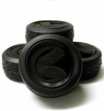 BY-011/12 1/10 On Road Front Rear Buggy RC Rubber Tyre Black Foam Insert x 4
