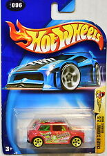 HOT WHEELS 2003 CRAZED CLOWNS #2/5 MORRIS MINI RED
