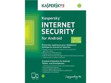 Kaspersky Internet Security for Android , w/AntiVirus, 2 Devices 1 Year, Keycard