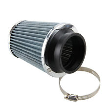 High Flow 3'' 75mm Car Air Filter Clean Intake Short RAM/COLD Round Cone White