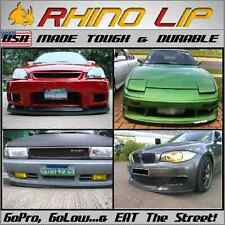 Universal Front Bumper Lip Spoiler Shield Body Kit Ground Effect Trim Secure Fit