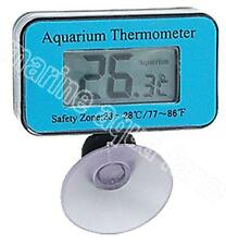 AQUARIUM SUCTION DIGITAL THERMOMETER, REEF, MARINE, FISH TANK, WATER, LCD, CORAL