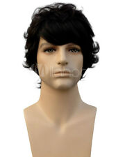 Quality Black Curly Synthetic Man's Short Wig