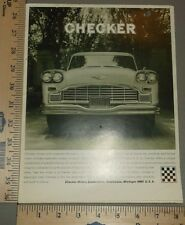 1967 Checker Marathon Taxi Cab Sales Brochure and Supplement