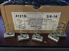(#4121G) P1008 3/8-16 Hot Dip Galvanized Spring Nuts for Unistrut Channel 15/BOX