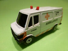 EDOCAR MERCEDES BENZ VAN 307D - AMBULANCE GG&GD - PROMO WHITE 1:70? - GOOD