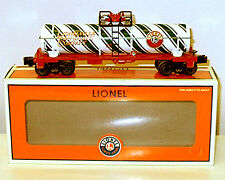 Lionel  Candy Cane Christmas green stripe, single dome Tank car #6-26196