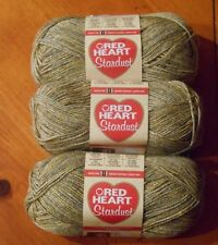 Red Heart Stardust Yarn Lot Of 3 Skeins (Green #1623)
