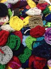 100 Granny Square CENTERS for Afghan Solid Colors Only