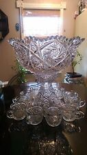 Awesome Antique Punch bowl on Rasied Base