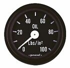 "Gauge 2"" 52mm Pricol Meter Oil Pressure Black/White Face Mechanical Press Type"