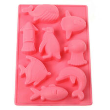 Silicone Sea Cute Animal Moulds silicone Fish chocolate molds Wedding Cake JMHG