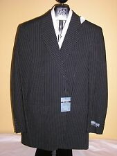 $395 New Jos A Bank stays Cool 100% cotton Navy Stripe 2 button suit 36 S 30 W