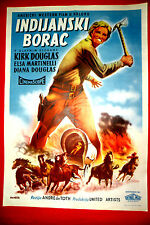 INDIAN FIGHTER 1955 KIRK DOUGLAS ELSA MARTINELLI WESTERN  RARE EXYU MOVIE POSTER