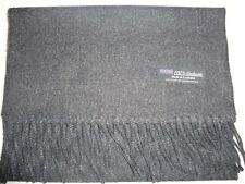 100% Cashmere Scarf 72X12 Solid Charcoal Gray Made in Scotland Warm Wool Unisex