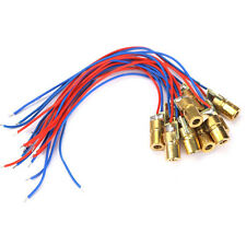 10pcs 650nm 6mm 3V 5mW Laser Dot Diode Module Head With Red Dot
