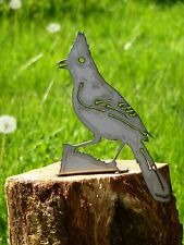 Cut Metal Rusty Starling Jay Bird Garden Home Yard Outdoor Lawn Fence Art Decor