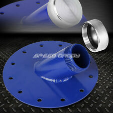 """FUEL CELL GAS TANK 45° DEGREE 1.5"""" REMOTE FAST FILL 2.75"""" FILLER NECK+CAP BLUE"""