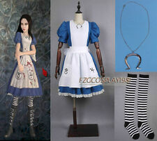Alice Madness Returns  cosplay costume Custom Size Halloween