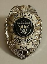 OAKLAND RAIDERS OFFICIAL FOOTBALL FAN BADGE PIN