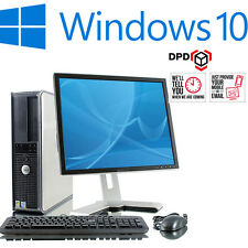 Completo Dell Torre De Escritorio Dual Core Pc y tft ordenador con Windows 10 y WiFi y 4GB