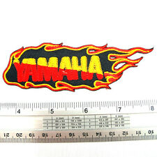 """Yamaha Flame Racing embroidered iron on patches appliques 1.5x4.75"""""""