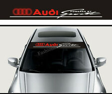 Front Windshield Decal Vinyl Car Stickers for Audi SPORT Auto Window Accessories