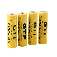 4pcs 3.7V 14500 2500mAh Li-ion Rechargeable Battery For Flashlight Torch OE