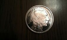 1 Troy Ounce .999 Pure Silver American Buffalo Indian Brilliant Coin