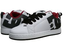 DC Mens Court Graffik Skate Shoe ~ White/Athletic Red/B(HAT) ~ US 8 ~ NEW IN BOX