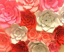 Large Paper Flowers Decorations Set of 15 Party Wedding Baby Nursery Cake Table