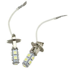 2PC H3 Lens 9 LED Lights SMD Car Auto Xenon White Fog Bulb Lamp Bright Universal