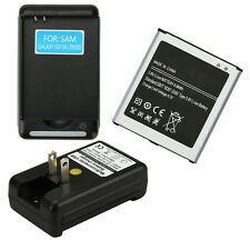 1X2600 MAH 3.8V Battery+Dock Charger For Samsung Galaxy S4 I9500 I9505 L720 M919