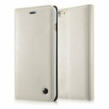 for iPhone SE / 5S - White Leather Folio Book Case Magnetic Wallet Pouch Cover