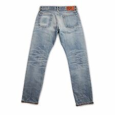 Double RL rrl slim fit jeans, wash billings blue, selvedge, men's s. 30/30 32/30