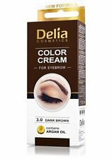 Delia® Professional Henna, DARK BROWN Eyebrow Color Cream + Easy Tint Kit Set!