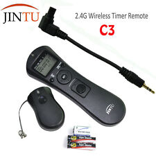 JINTU C3 Wireless Timer Intervalometer Remote Cord for Canon 7D 10D 20D 30D 40D