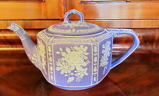 "JAPANESE NIPPON LAVENDER WEDGWOOD TEAPOT GREEN ""M"" MARK -COND."