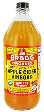 BRAGG ORGANIC APPLE CIDER VINEGAR  32 oz/ GLASS BOTTLES FRESH & SEALED