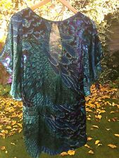 Warehouse Real Silk Dress Top Size 12 Excellent Condition