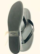 Salvatore Ferragamo Gancino Flip-Flop Sandal Black Size 8
