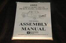 1955 CHEVROLET PICKUP PANEL SUBURBAN ASSEMBLY MANUAL 100'S OF PAGES OF PICTURES,
