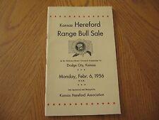 Kansas Hereford Range Bull Sale Brochure (Dodge City, Kansas) Feb 6, 1956