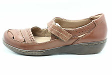 Clarks Womens Evianna Date Mary Jane Flat Tan Brown Size 7 M