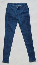 NEW LEVIS Women's Blue Print Stretch Denim Mid Rise Skinny Legging Jeans 27 2 4
