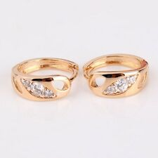 Luxury dashing white sapphire unique party Huggie 18k gold filled earring