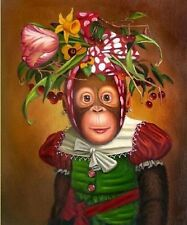 """Art Repro oil painting:""""Monkey In canvas"""" 16x24 Inch"""