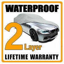 2 Layer Car Cover Breathable Waterproof Layers Outdoor Indoor Fleece Lining Fih