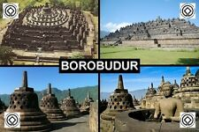 SOUVENIR FRIDGE MAGNET of BOROBUDUR INDONESIA UNESCO