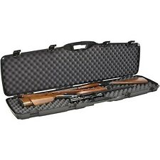 Plano DOUBLE Gun Case Rifle Shotgun Two Scope Hard Carry Case Padded Locking NEW